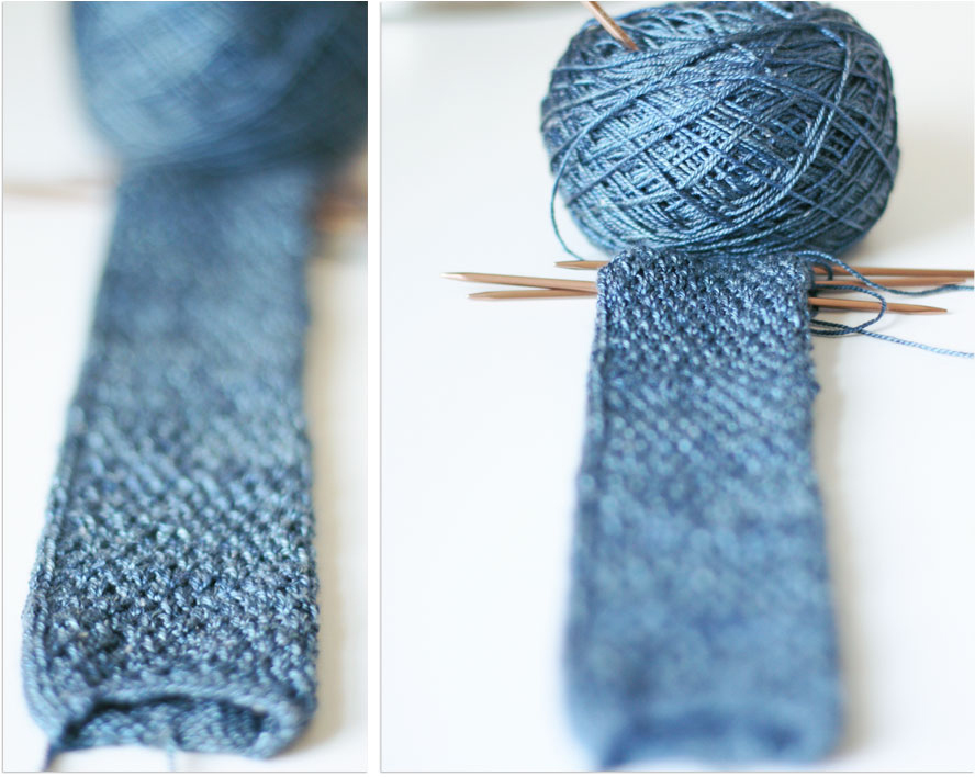 Work in Progress: A Men\'s Tie | Nice and Knit